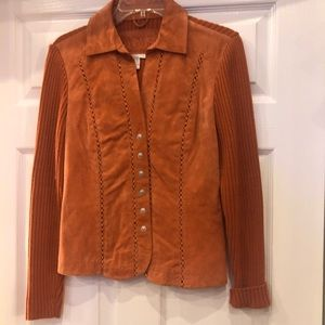 AMI Button down Leather Sweater size S